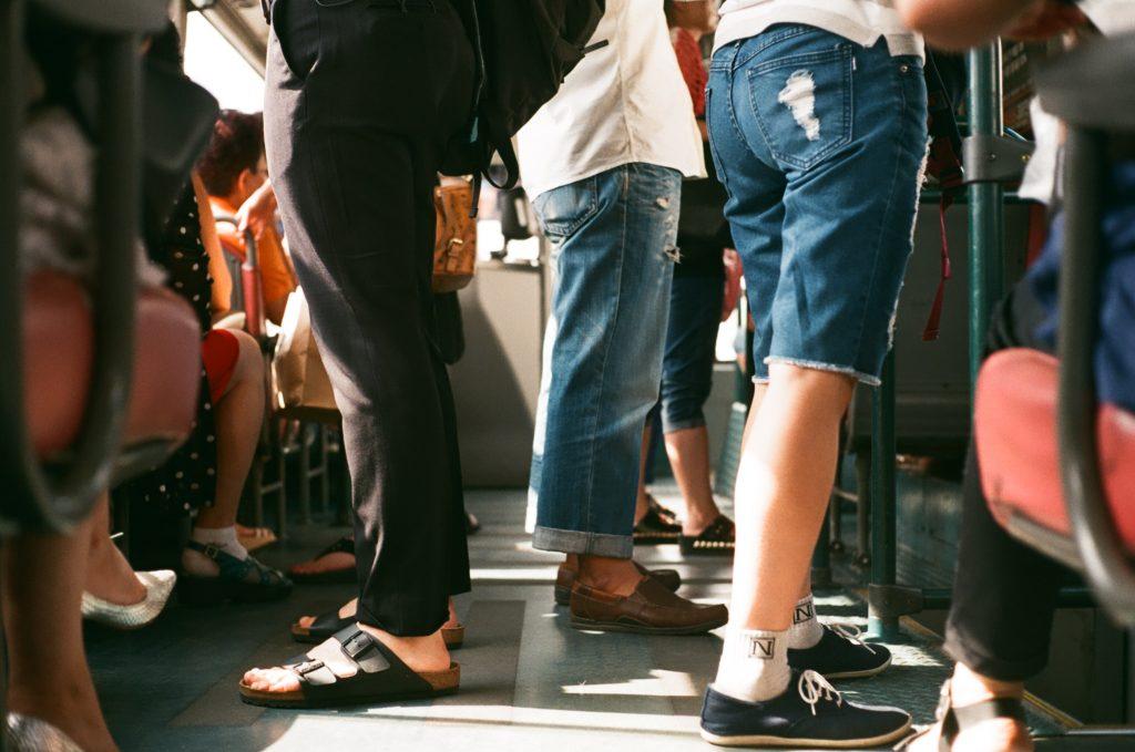 passagers d'un bus